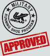 Approved by US Army Running Shoe Program